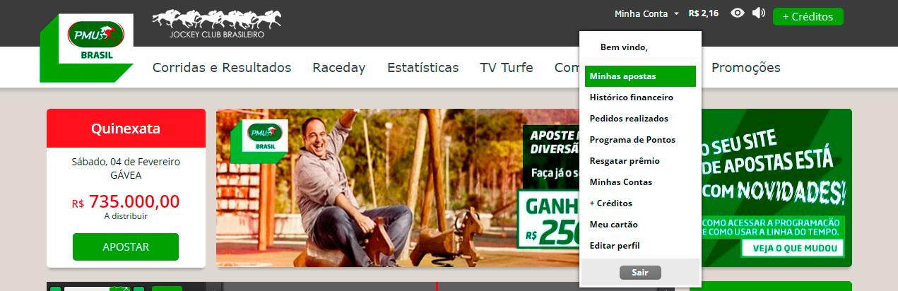 Minhas Apostas no site PMU Brasil